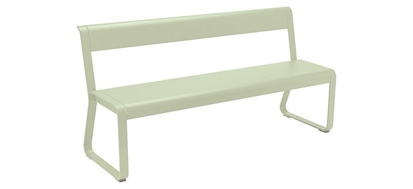 Fermob Bellevie Bench with backrest · Willow Green