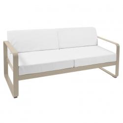 Fermob Bellevie Sofa · 2 personer · Nutmeg/Off-white