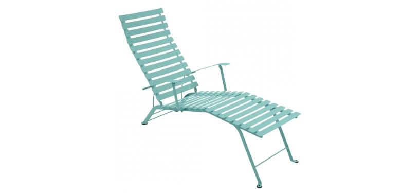 Fermob Bistro Chaise Longue · Lagoon Blue