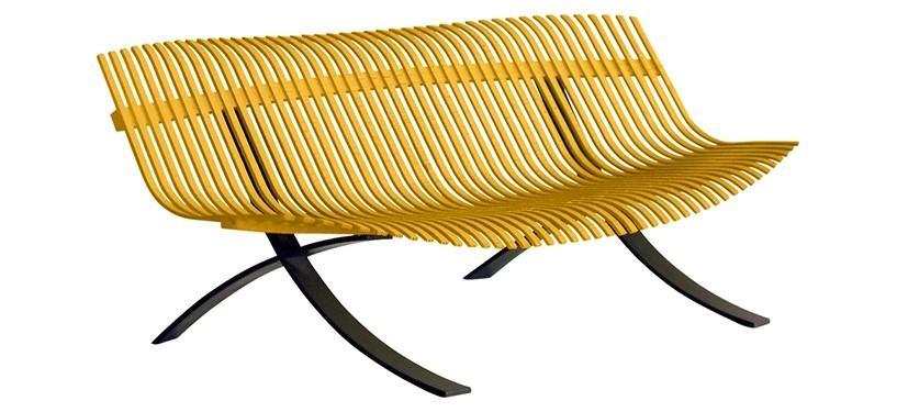 Fermob Charivari Bench · Liquorice/Honey