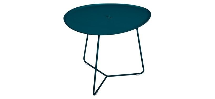 Fermob Cocotte Low Table · Acapulco Blue