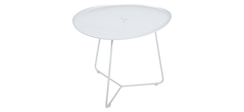 Fermob Cocotte Low Table · Cotton White