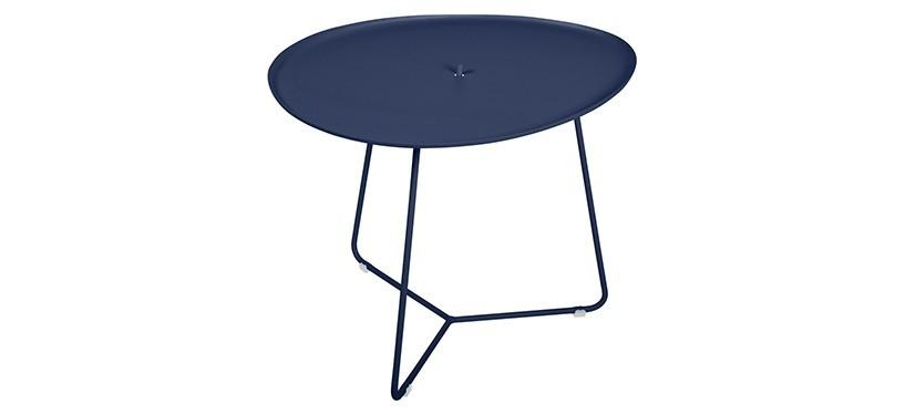 Fermob Cocotte Low Table · Deep Blue