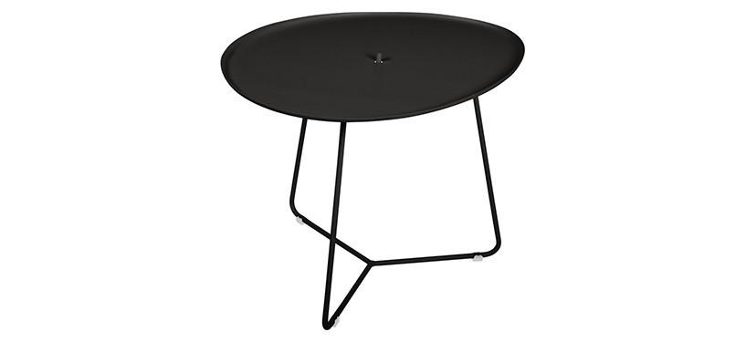 Fermob Cocotte Low Table · Liquorice