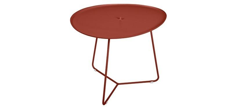 Fermob Cocotte Low Table · Red Ochre