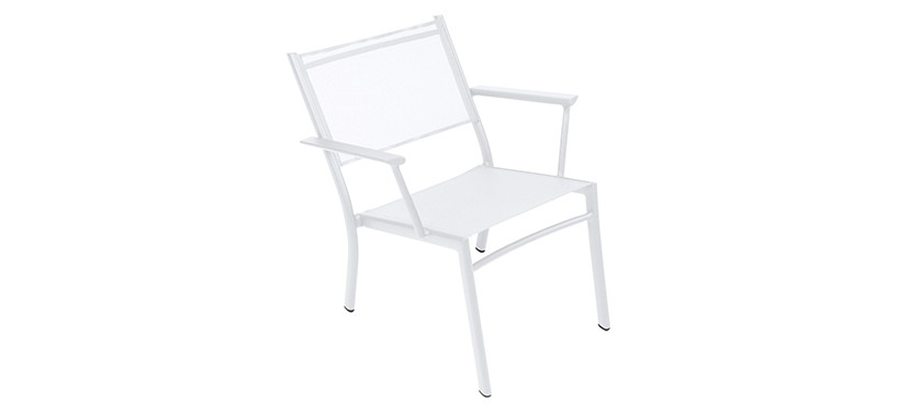Fermob Costa Low Armchair · Cotton White