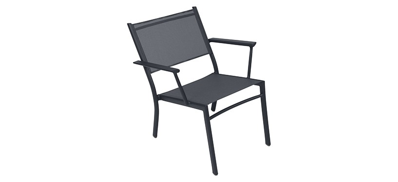 Fermob Costa Low Armchair · Anthracite