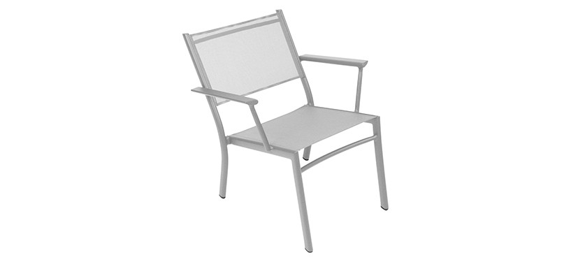 Fermob Costa Low Armchair · Steel Grey