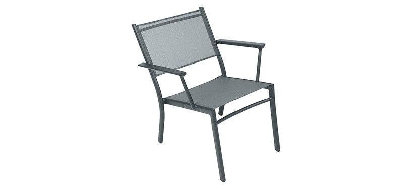 Fermob Costa Low Armchair · Storm Grey