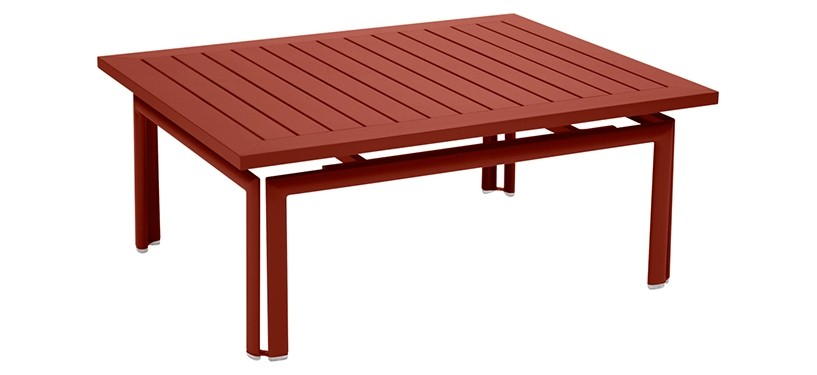 Fermob Costa Low Table · Red Ochre