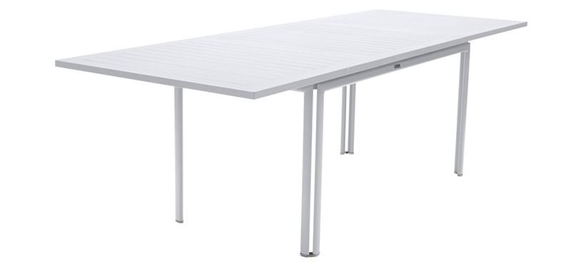 Fermob Costa Table with Extension · Cotton White