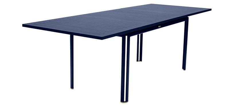 Fermob Costa Table with Extension · Deep Blue