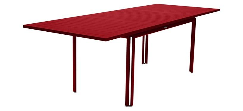 Fermob Costa Table with Extension · Poppy
