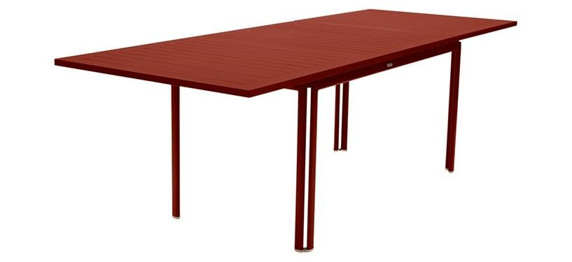 Fermob Costa Table with Extension · Red Ochre