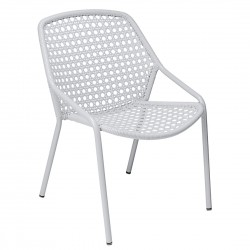 Fermob Croisette Armchair · Cotton White