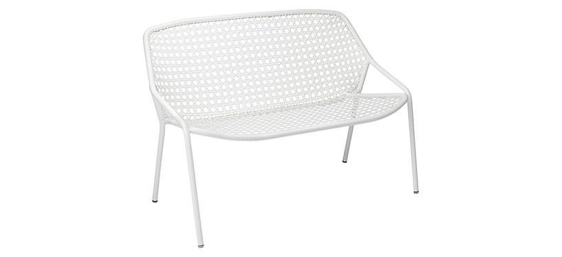 Fermob Croisette Bench · Cotton White