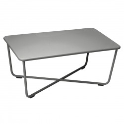 Fermob Croisette Low Table · Liquorice