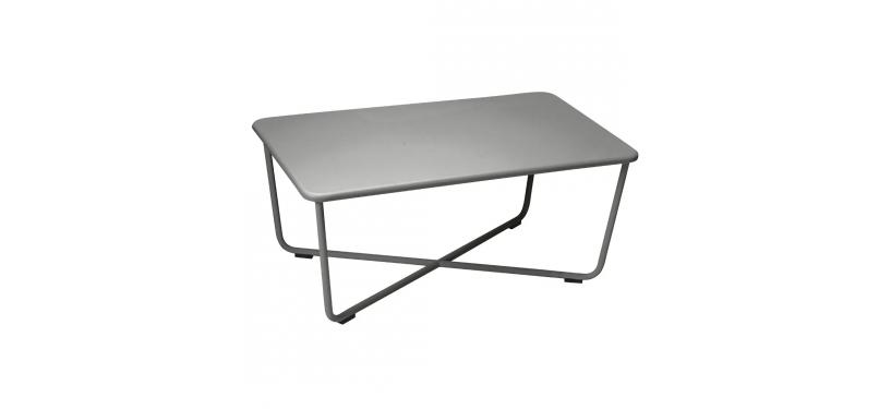 Fermob Croisette Low Table · Liquorice