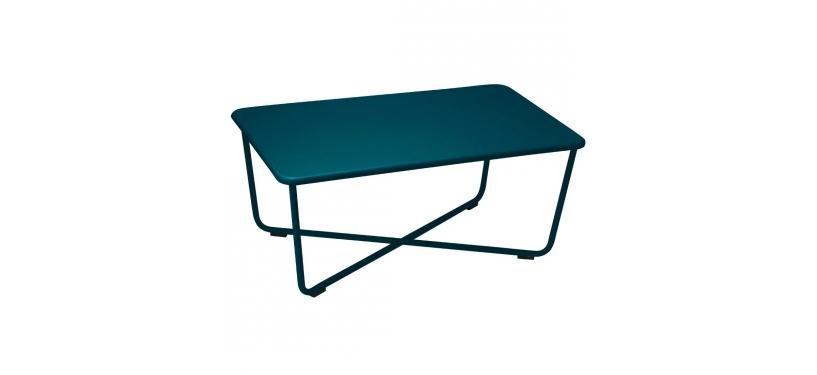 Fermob Croisette Low Table · Acapulco Blue