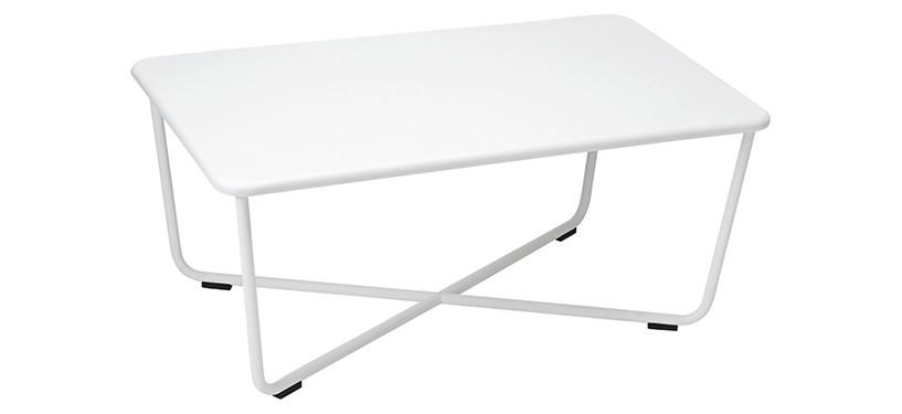 Fermob Croisette Low Table · Cotton White