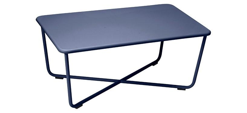 Fermob Croisette Low Table · Deep Blue