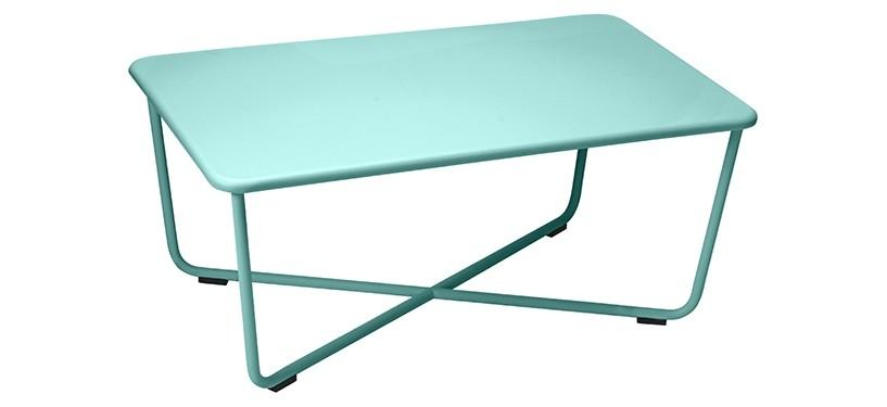 Fermob Croisette Low Table · Lagoon Blue