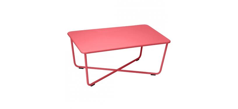 Fermob Croisette Low Table · Poppy