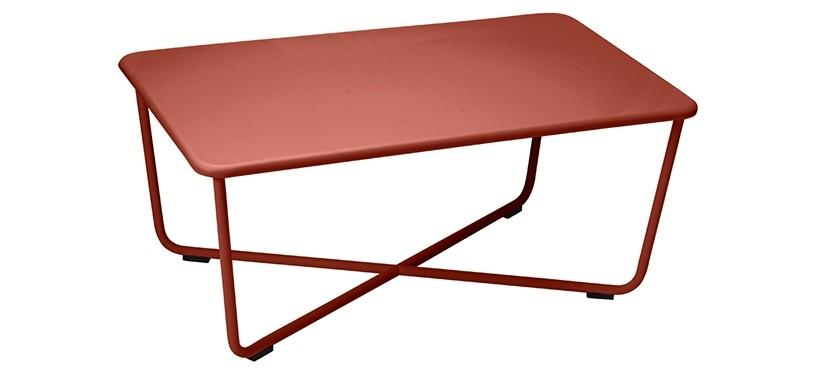 Fermob Croisette Low Table · Red Ochre