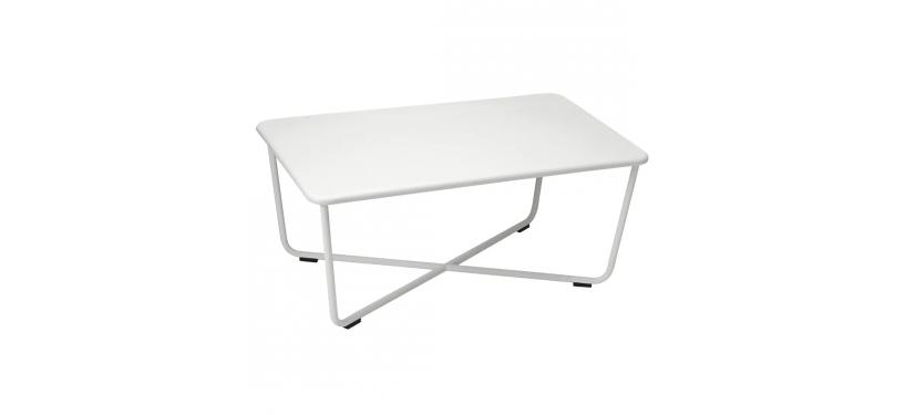 Fermob Croisette Low Table · Steel Grey