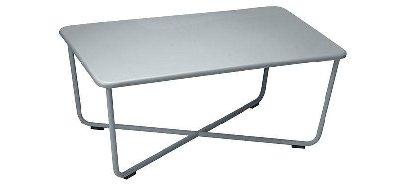 Fermob Croisette Low Table · Storm Grey