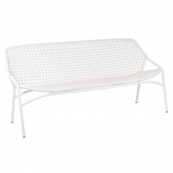 Fermob Croisette XL Bench · Cotton White