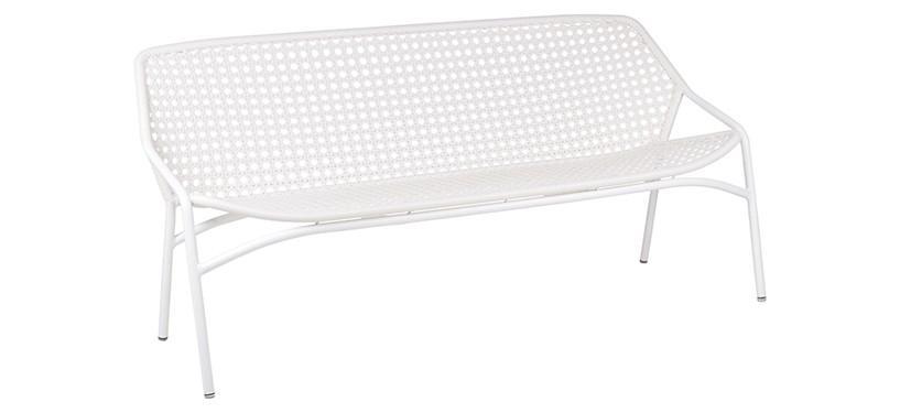 Fermob Croisette XL Bench · Cotton White