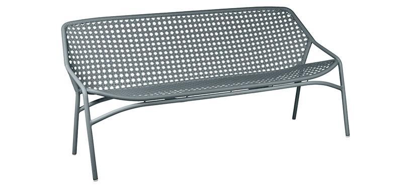 Fermob Croisette XL Bench · Storm Grey
