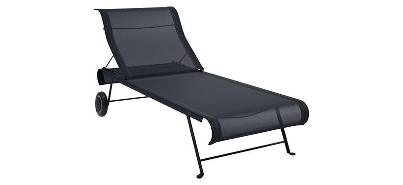 Fermob Dune Sunlounger · Anthracite