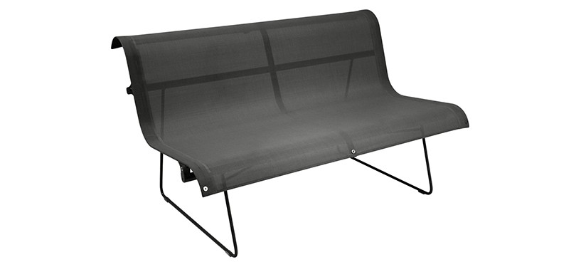 Fermob Ellipse Bench · Liquorice