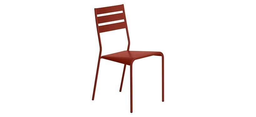 Fermob Facto Chair · Red Ochre