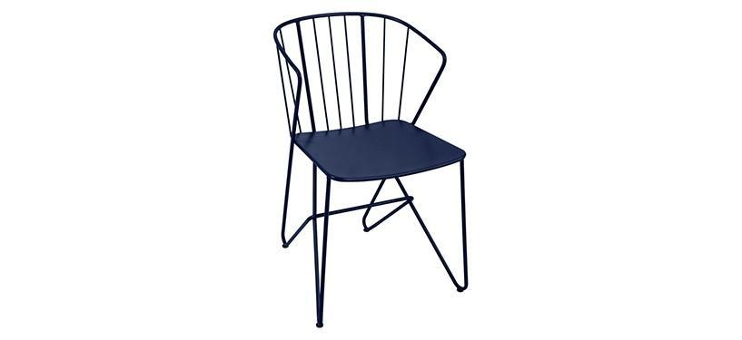 Fermob Flower Armchair · Deep Blue