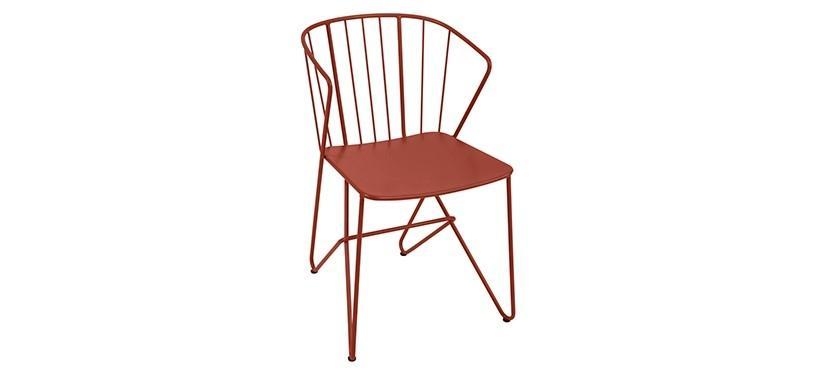 Fermob Flower Armchair · Red Ochre