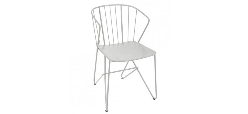 Fermob Flower Armchair · Steel Grey