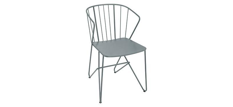 Fermob Flower Armchair · Storm Grey