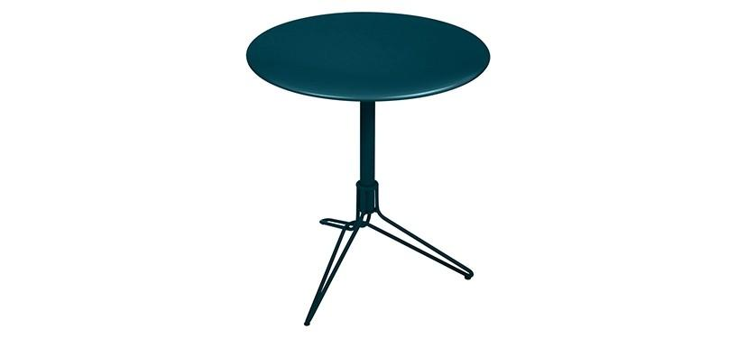 Fermob Flower Pedestal Table · Acapulco Blue
