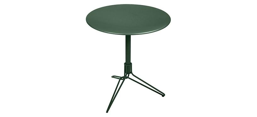 Fermob Flower Pedestal Table · Cedar Green