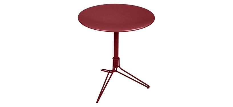 Fermob Flower Pedestal Table · Chili