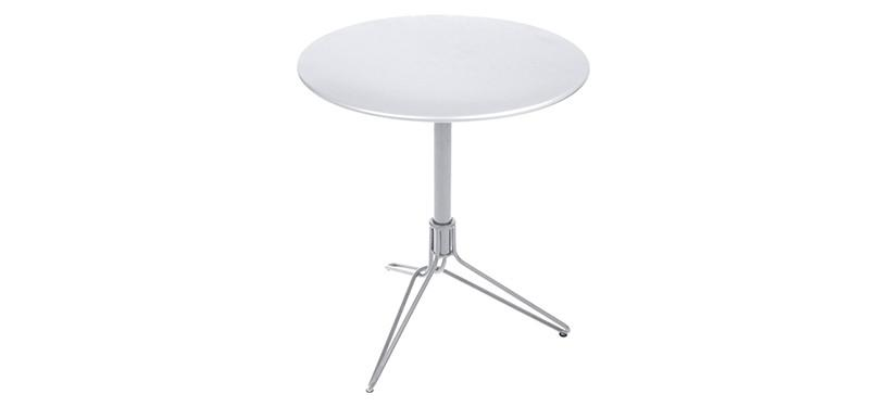 Fermob Flower Pedestal Table · Cotton White