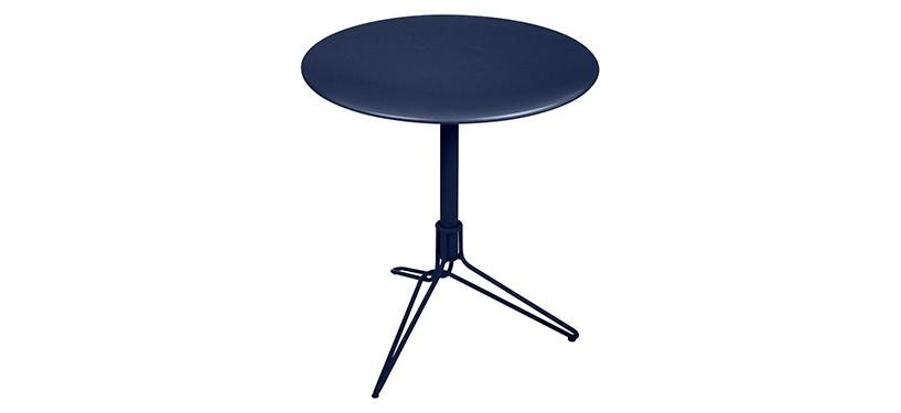 Fermob Flower Pedestal Table · Deep Blue