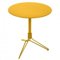 Fermob Flower Pedestal Table · Honey