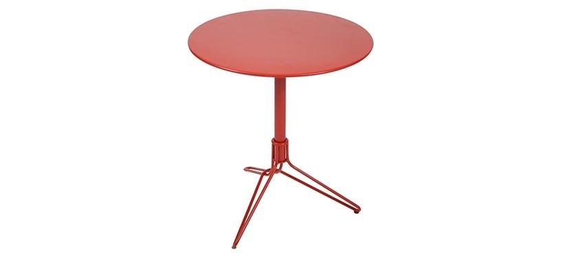Fermob Flower Pedestal Table · Poppy