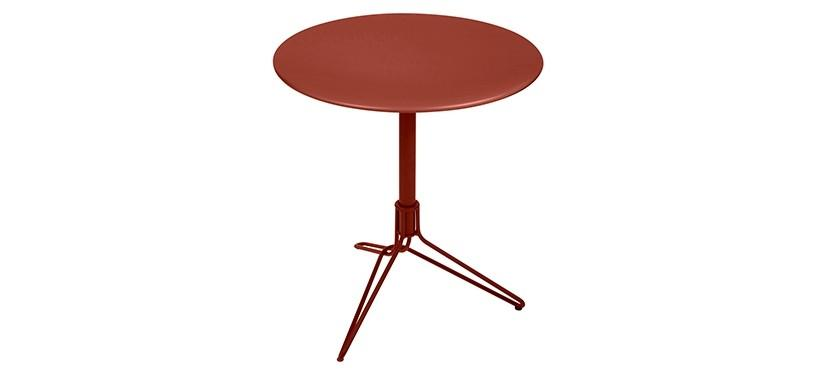 Fermob Flower Pedestal Table · Red Ochre
