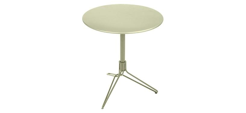 Fermob Flower Pedestal Table · Willow Green