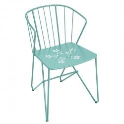 Fermob Flower Perforated Armchair · Lagoon Blue